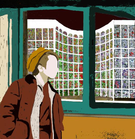 mirando por la ventana